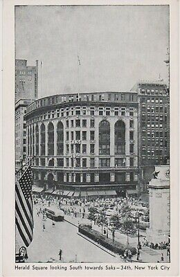 UNCOMMON NEW YORK CITY VIEW OF SAKS 34TH ST. NOW MANHATTAN CENTER MALL, (Manhattan Mall)