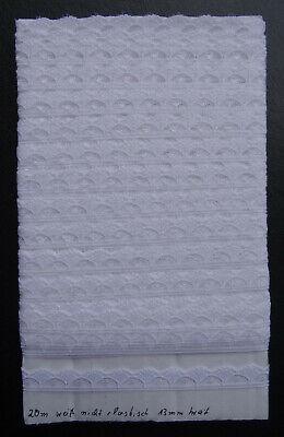 20m weiße nicht elastische Tüllspitze Borte 13mm breit