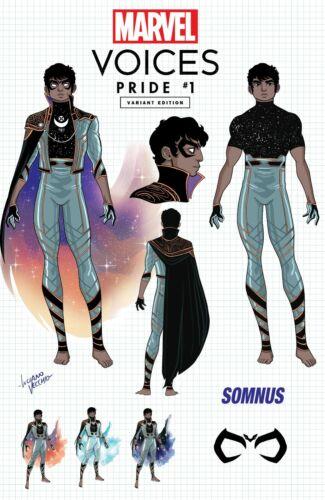 Marvels Voices Pride #1 Exclusive Luciano Vecchio 1st Somnus Design Variant 2021