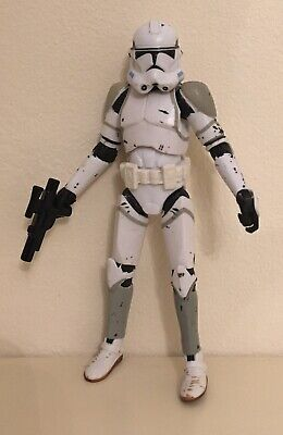 "STAR WARS CLONE TROOPER 41ST ELITE CORP 3.75"" ACTION FIGURE BLACK SERIES"