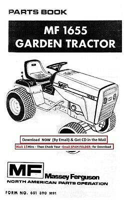 Massey Ferguson Mf 1655 Tractor Parts Manual For Mf1655 Service Repair Cd