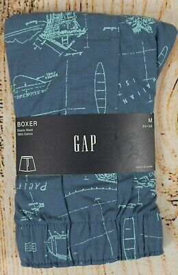 NIP Mens GAP Boxers 100% Cotton Elastic Waist Hawaiian Islands Surf - 805944 Elastic Waist Boxers