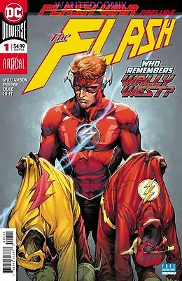 FLASH ANNUAL #1 JAN 2018 FLASH WAR STARTS HERE SOLD OUT DC COMIC BOOK WALLY WEST