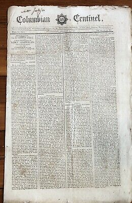 BEST 1791 headline newspaper FRONT PAGE report EARLY KENTUCKY before