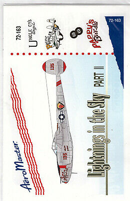 P-38 Lightning part 2 decals 1/72 Aero Master 72163