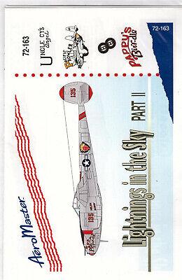 P-38 Lightning part 2 decals 1/72 Aero Master 72163