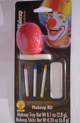 Halloween Clown Make Up (HALLOWEEN – 6-PIECE - RED VINYL CLOWN NOSE MAKEUP & APPLIANCE KIT – NIP)