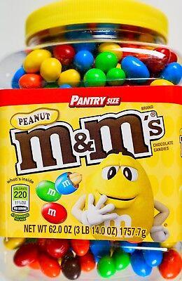 Mars M Ms Peanut Chocolate Candies Pantry Size  62 Or 124 Oz