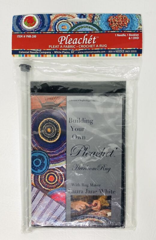 Pleachet Rug Needle How-To Booklet & DVD Fabric Strips Trivet Chair Pad Rug DIY