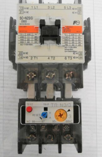 Fuji Electric SC-N2S/G SC50BAG Contactor 80A 24VDC with TR-N3/3 TR65BD Relay