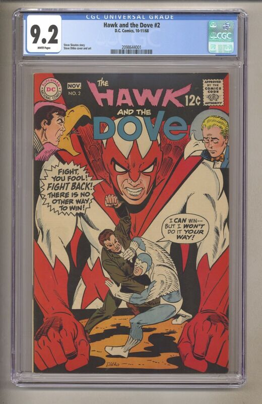 Hawk And The Dove #2 (CGC 9.2) White Pages; Steve Ditko 1968 DC Comics (j# 235)