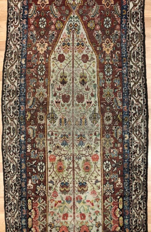 Special Shalamzar - 1890s Antique Oriental Rug - Tribal Carpet - 3 X 11.6 Ft.