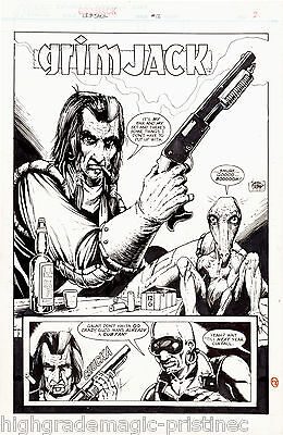 1984 GRIMJACK #12 TIMOTHY TRUMAN ORIGINAL ART COMPLETE 20 PAGE STORY