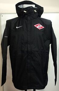 SPARTAK MOSCOW FOOTBALL BLACK WINDBREAKER BY NIKE SIZE LARGE BRAND NEW WITH TAGS