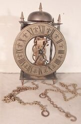 Hermle 701-781 German Skeleton 8 Day Wall Clock with Cast Dial Parts/Res