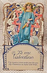 VINTAGE-EARLY-20th-CENTURY-VALENTINE-GREETING-CARD-TO-MY-VALENTINE-ANGEL