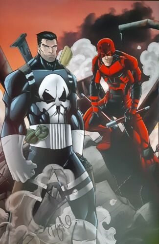 Daredevil and the Punisher 11x17 Ryan Kincaid print, signed
