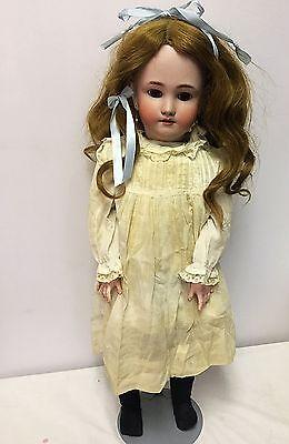 "Large 26"" Heinrich Handwerck Simon Halbig antique German bisque girl doll"