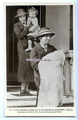 r2999 - Prince Edward & Princess Alexandra of Kent with their Nanny's - postcard