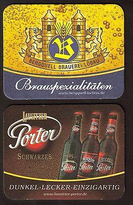 BD - Bierdeckel - Coaster , Bergquell Brauerei Löbau , Löbau / Sachsen