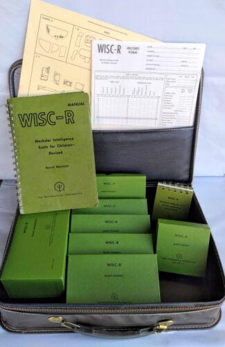 WISC-R Wechsler Intelligence Scale for Children IQ Psychological Test 1974