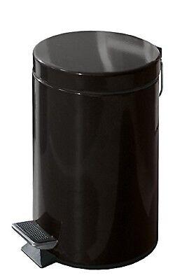 KLEINE WOLKE Kosmetikeimer Treteimer Metall Schwarz 3 L ca. 25,5 x 17,0 cm