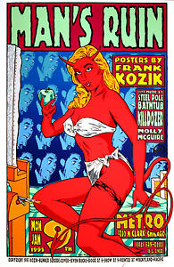 KOZIK-MANS-RUIN-RECORDS-SILKSCREEN-POSTER-9501-SIGNED
