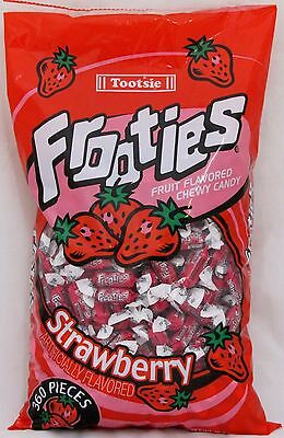 Frooties Strawberry Candy (360 Count Bag) Tootsie Bulk Candies Fruities 2.42 LBS - Tootsie Roll Frooties