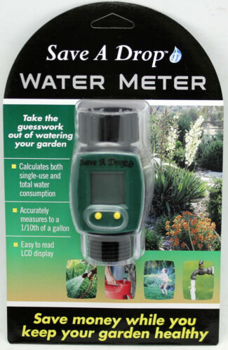 Save A Drop P3 Water Consumption Monitoring Meter P0550 LCD Gallon Read Out