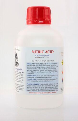 1 Liter (33.8 oz) Nitric 70% Acid Laboratory Grade Best for Gold Silver Refining