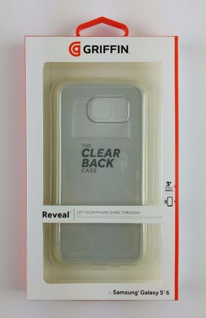 Griffin Reveal Hartschale Back Cover Schutzhülle Samsung S6 Transparent, NEU