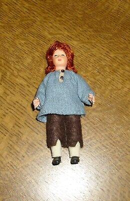 Puppenstubenpuppe, Miniatur 1:12, Caco (Canzler), rothaariger Junge