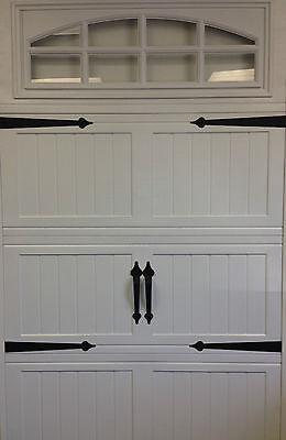 - Garage Door Deluxe Decorative Hardware Kit  - Hinges & Handles - Includes Screws