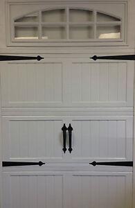 garage door deluxe decorative hardware kit hinges handles includes screws - Decorative Garage Door Hardware