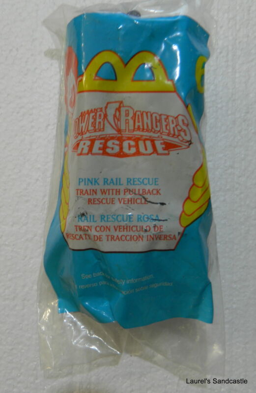 Pink Rail Rescue ~ #6  McDonald's 2000 Power Rangers Rescue ~ NEW & Sealed!