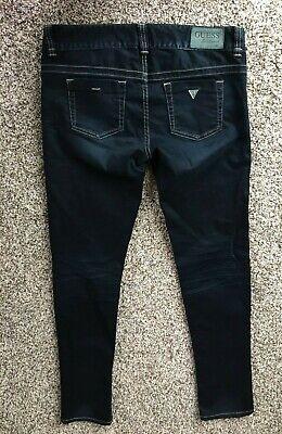 Guess Daredevil Skinny Leg Stretch Distressed Denim Jeans Size 29 EUC