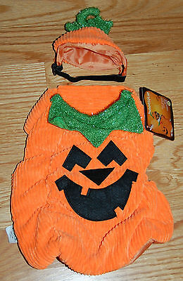 NWT Petco Bootique Pumpkin The Great Pup-Kin Dog Costume Halloween 2 Piece XS