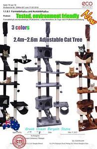 2.4m-2.6m Adjustable Cat Post Scratching Tree JJP2027