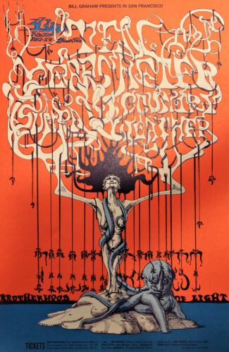 1st Press Bill Graham Ten Years After concert poster, Vintage and MINT