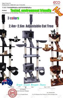 2.4m-2.6m Adjustable Cat Post Scratching Tree JJP2027
