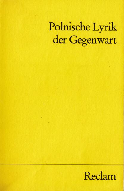 Reclam- 09482 DEDECIUS : POLNISCHE LYRIK DER GEGENWART