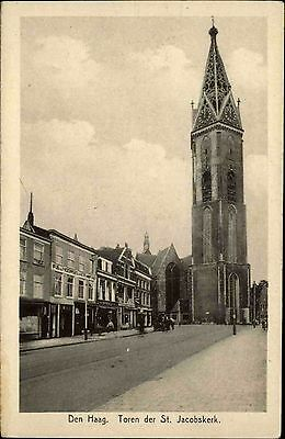 Den Haag Niederlande alte Ansichtskarte ~1920 Toren der St. Jacobskerk Kirchturm