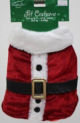 Christmas Eve Santa Suit Pet Dog Coat Costume Size Medium 13-20 lbs 13-16 in NWT