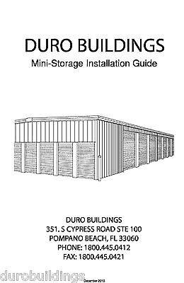 Duro Steel Metal Building Self Storage Erection Diy Construction Manual On Cd