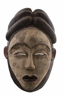 Mask Lumbo Mukudj Punu Pounou Gabon 34 cm Art African Antique Rare 16879