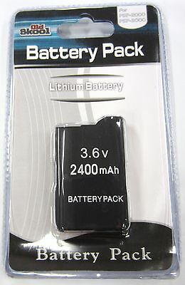 Psp Slim Replacement Battery - PSP 2000 3000 (SLIM) Replacement Battery Pack 3.6v 2400 mAh - Old Skool