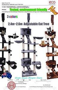 2.4m-2.6m Adjustable Cat Post Scratching Tree JJP2027 Chipping Norton Liverpool Area Preview