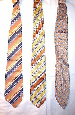 Isaia Napoli 7 Fold Massimo Bizzocchi Ermenegildo Zegna Necktie Lot Crafts As Is