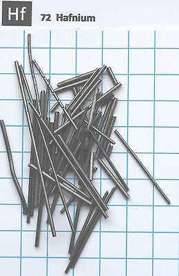 1 troy Oz 31.15 gram Hafnium Wire 99.2% pure element 72 sample