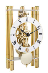 HERMLE Table Skeleton Mantel Clock mechanical 8-day movement gold Made Germany
